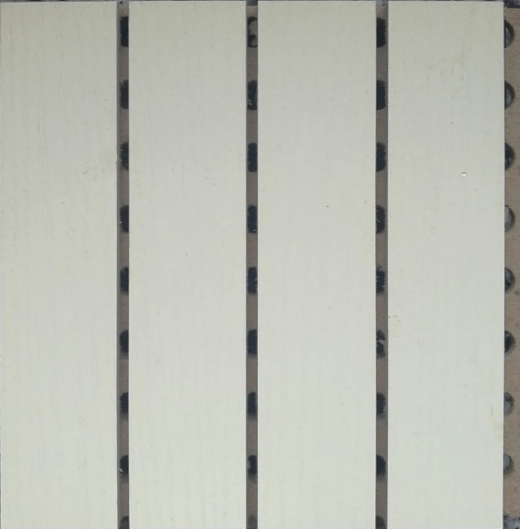 暖白色-木质吸音板